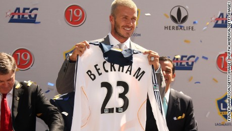David Beckham left Real Madrid in 2007 to join Major League Soccer side LA Galaxy.