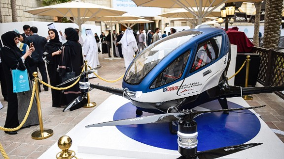 The model was on display at the World Government Summit 2017 in Dubai, where the partnership between the RTA and Chinese drone makers Ehang was announced.