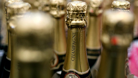 SOUTH SAN FRANCISCO, CA - DECEMBER 29:  Bottles of champagne are seen on display at a Costco store December 29, 2008 in South San Francisco, California. As the economy continues to falter, sales of sparkling wine and champagne are down this year compared to a 4 percent surge from last year.  (Photo by Justin Sullivan/Getty Images)