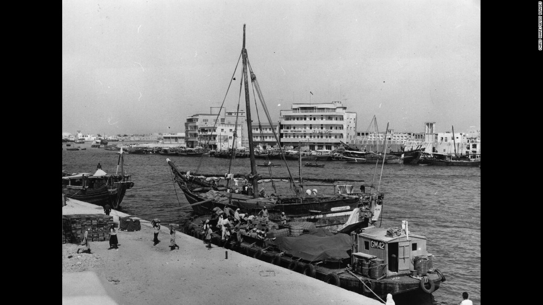 Dubai has a long history of sailing boats trading with Iran, Pakistan, and further afield.
