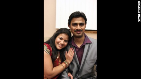 Srinivas Kuchibhotla, with his wife Sunayana Dumala, died in a triple shooting at a Kansas tavern.