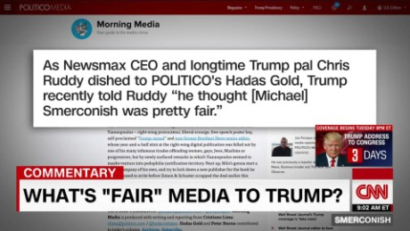 What is 'fair' media to Trump?_00013303