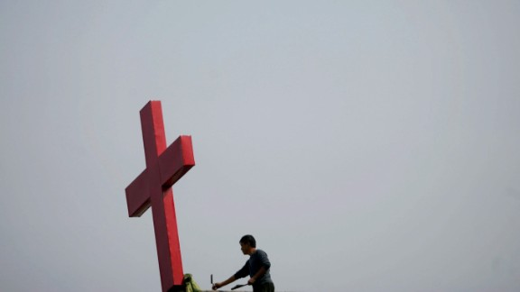 Hundreds of crosses have been removed from churches and buildings across China.