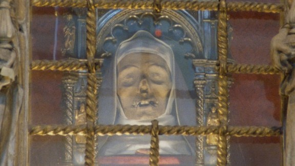 Saint Catherine of Siena was known for her miraculous visions and her work helping the sick and poor. Today visitors to the city can see a slightly macabre memorial to her. More than 600 years after her death, Saint Catherine