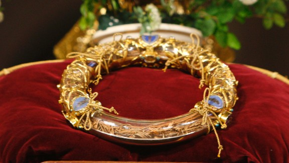 According to the Bible, a crown of thorns was placed on Jesus