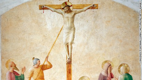 Crucifixion with Longinus and Saints by Fra Angelico and Workshop (Photo by © Arte & Immagini srl/CORBIS/Corbis via Getty Images)