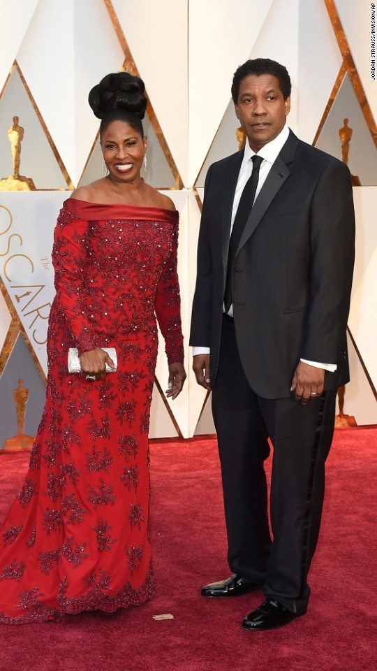 Pauletta and Denzel Washington