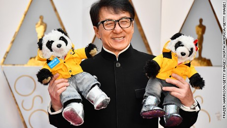 Actor Jackie Chan attends the 89th Annual Academy Awards at Hollywood & Highland Center on February 26, 2017 in Hollywood.