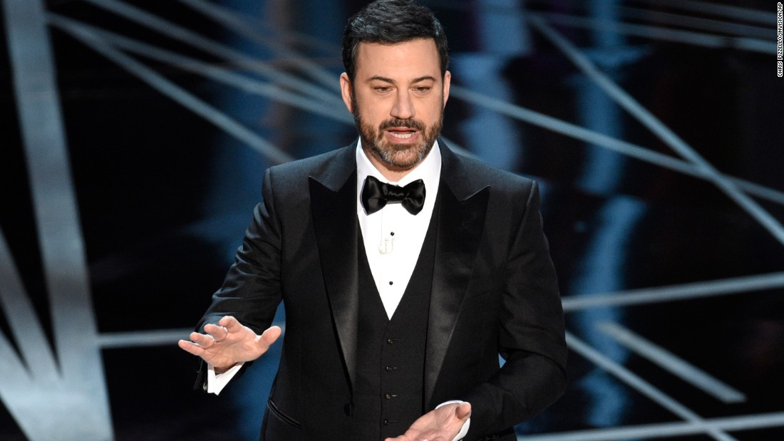 Comedian Jimmy Kimmel was hosting the show for the first time.