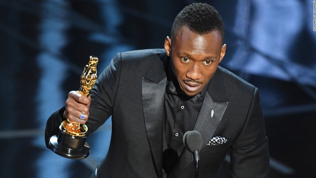 "Other 2017 African-American Oscar winners included Mahershala Ali, who won best supporting actor for ""Moonlight."""