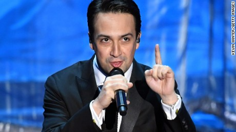 HOLLYWOOD, CA - FEBRUARY 26:  Composer Lin-Manuel Miranda performs onstage during the 89th Annual Academy Awards at Hollywood & Highland Center on February 26, 2017 in Hollywood, California.  (Photo by Kevin Winter/Getty Images)