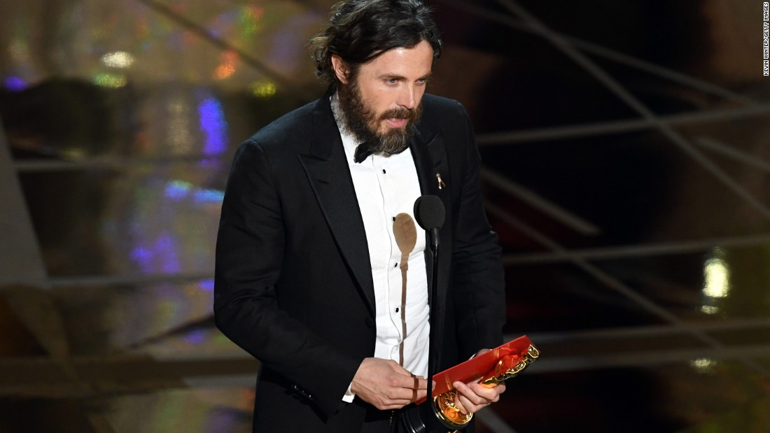 "Casey Affleck won best actor for his role in ""Manchester by the Sea."""
