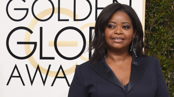 Octavia Spencer attends the Golden Globe Awards last month.