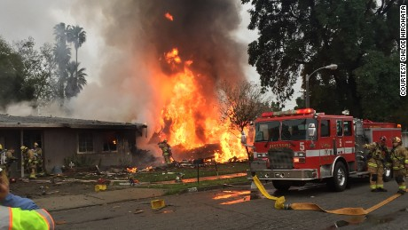 Officials are on the scene of a possible small plane crash in Riverside, California.