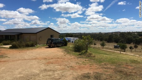The house in Young, Australia, where the 42-year-old suspect was living before his arrest.