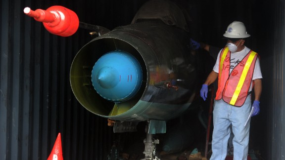 A MIG-21 jets found inside the North Korean Chong Chon Gang vessel seized in July 2013.