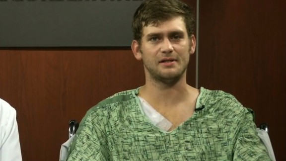 Ian Grillot was hospitalized after the shooting.