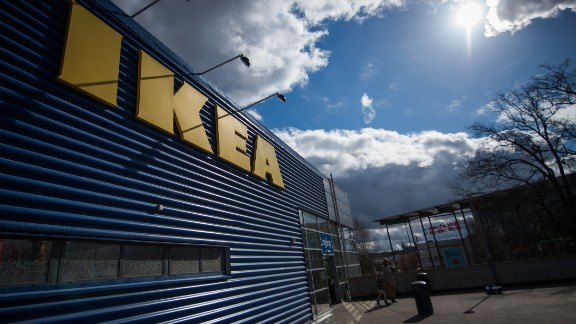 The logo of IKEA is pictured outside Europe's biggest Ikea store in Kungens Kurva, south-west of Stockholm on March 30, 2016.  Ikea founder Ingvar Kamprad, who built a global business empire with revolutionary flat-pack furniture and dallied with Nazism in his youth, turned 90 today. / AFP / JONATHAN NACKSTRAND        (Photo credit should read JONATHAN NACKSTRAND/AFP/Getty Images)