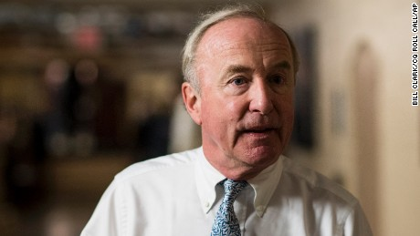 Rep. Rodney Frelinghuysen, R-New Jersey, leaves the House Republican Conference meeting in the Capitol on Wednesday, Nov. 30, 2016. (Photo By Bill Clark/CQ Roll Call) (CQ Roll Call via AP Images)