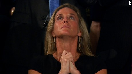 Trump honors widow of fallen Navy SEAL