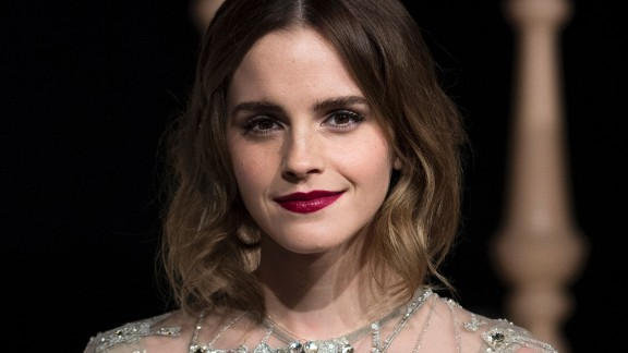 """Actress Emma Watson arrives for the Asian premiere of the Disney Movie """"Beauty and The Beast"""" in Shanghai, China, in February, 2017."""