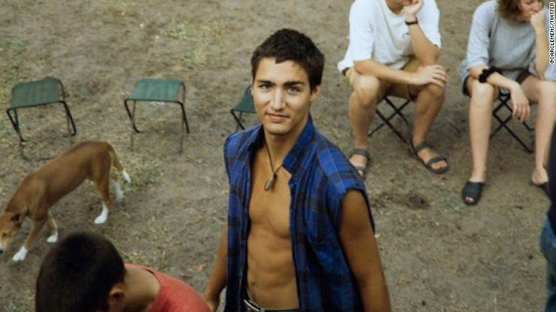 Photos of young Justin Trudeau go viral