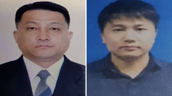 Hyon Kwang Song (left) is an embassy official and Kim Uk Il is employed by North Korean airline Air Koryo.