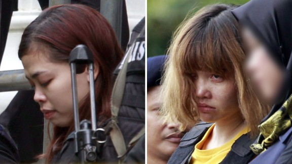 Siti Aisyah and Doan Thi Huong seen outside court on March 1.