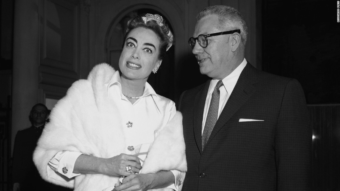 "Crawford sets out on a honeymoon with her fourth husband, Pepsi-Cola exec Alfred Steele, in 1955.  After Steele's death, the star became a member of Pepsi's board of directors, zealously promoting the soft drink as her career waned. ""Baby Jane's"" success prompted the reteaming of Crawford and Davis in ""Hush, Hush, Sweet Charlotte."" When illness forced Crawford out, Davis posed for a picture on the set drinking Coca-Cola in front of a Coke machine."