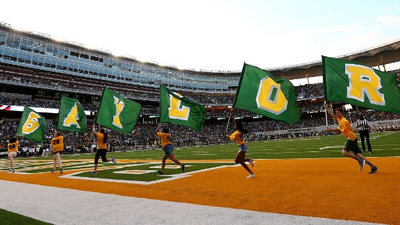 WACO, TX - SEPTEMBER 02:  Flags on the field for the Baylor Bears at McLane Stadium on September 2, 2016 in Waco, Texas.  (Photo by Ronald Martinez/Getty Images)