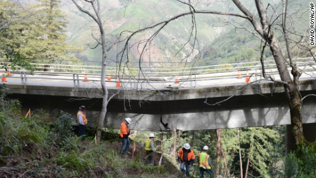 Access to the New Camaldoli Hermitage is difficult after storms damaged the Pfeiffer Canyon Bridge.