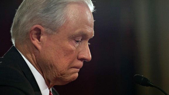 Sen. Jeff Sessions, R-AL, testifies during his confirmation hearing to be Attorney General of the US before the Senate Judiciary Committee on January 10, 2017, in Washington, DC.   / AFP / MOLLY RILEY        (Photo credit should read MOLLY RILEY/AFP/Getty Images)