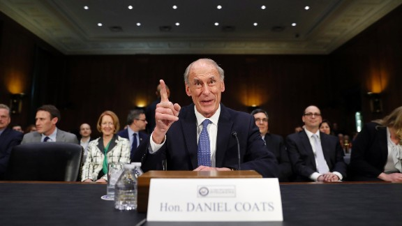 Coats speaks on Capitol Hill before his confirmation hearing in February. The former US senator from Indiana was the US ambassador to Germany in the first term of George W. Bush's administration.