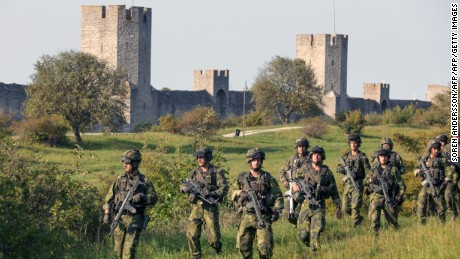 Sweden's Baltic Sea island of Gotland is once again home to a permanent military presence.