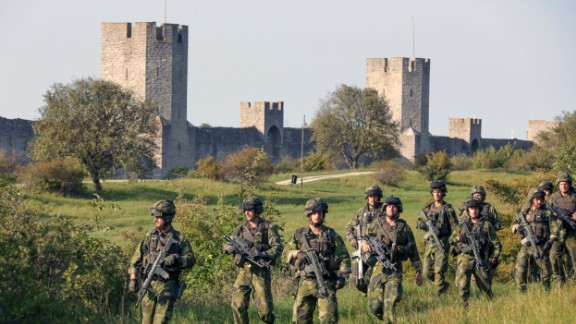 Sweden has sent troops to Gotland island.