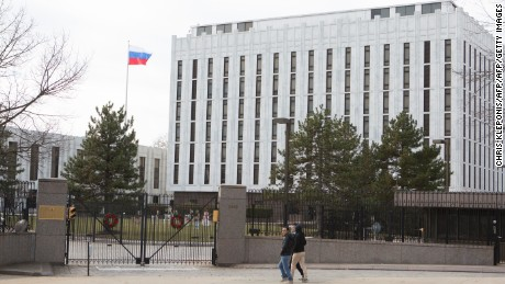 The Russian Embassy in Washington, DC.