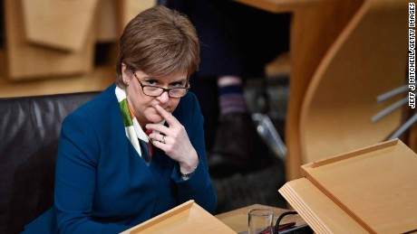 Sturgeon at debate to keep Scotland in the European single market at Scottish Parliament.
