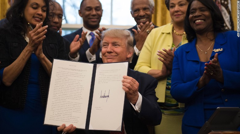 Trump announces lift on funding ban for faith-based institutions in HBCU pitch