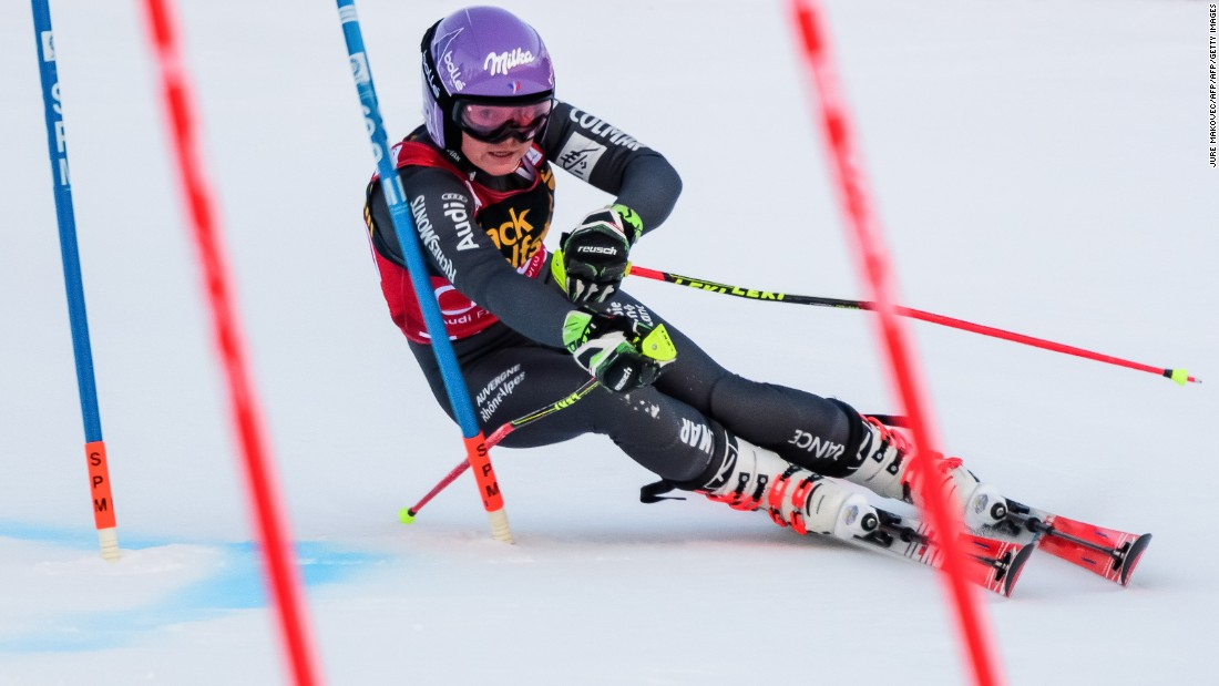 "France's <a href=""http://cnn.com/2017/01/06/sport/tessa-worley-mikaela-shiffrin-french-army-skier/"">Tessa Worley</a> competes in the first run of January's giant slalom race in Maribor, Slovenia."
