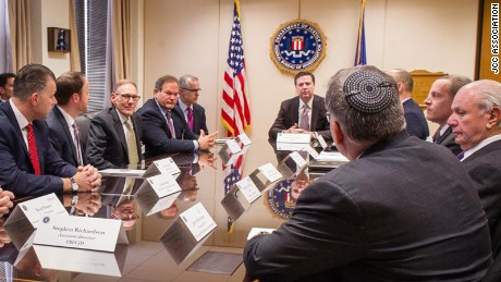 FBI director James Comey met with JCC leaders on Friday.