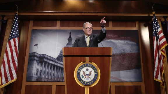 """Senate Minority Leader Chuck Schumer answers questions at a Washington news conference on Thursday, March 2. Schumer <a href=""""http://www.cnn.com/2017/03/01/politics/jeff-sessions-russian-ambassador-meetings/"""" target=""""_blank"""">called for Attorney General Jeff Sessions to resign</a> after it was revealed that Sessions, during his Senate confirmation hearing, did not disclose his meetings last year with Russia's ambassador to the United States."""