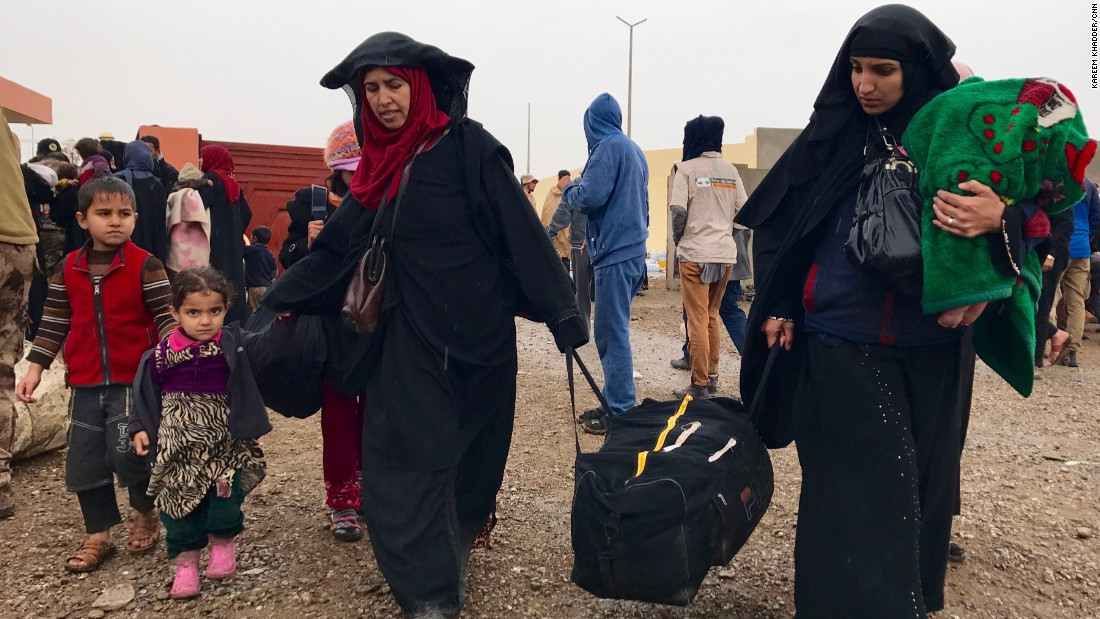 Number of civilians fleeing Mosul nears 60,000 - CNN