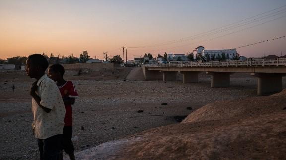 The river in Garowe, Somalia, has dried up.