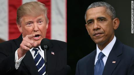 Trump slashes at Obama's legacy, but risks his own