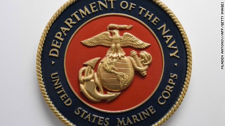 This photo reviewed by the US military shows the United States Marine Corps emblem hanging on a wall at the Joint Detention Forces Headquarters at Guantanamo Bay US Naval Base, Cuba, April 09, 2014.   AFP PHOTO/MLADEN ANTONOV        (Photo credit should read MLADEN ANTONOV/AFP/Getty Images)
