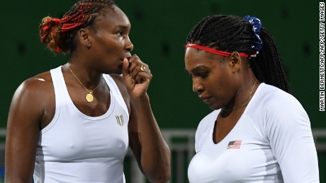 Venus (left) and Serena Williams won Olympic doubles gold at Sydney 2000, Beijing 2008 and London 2012.