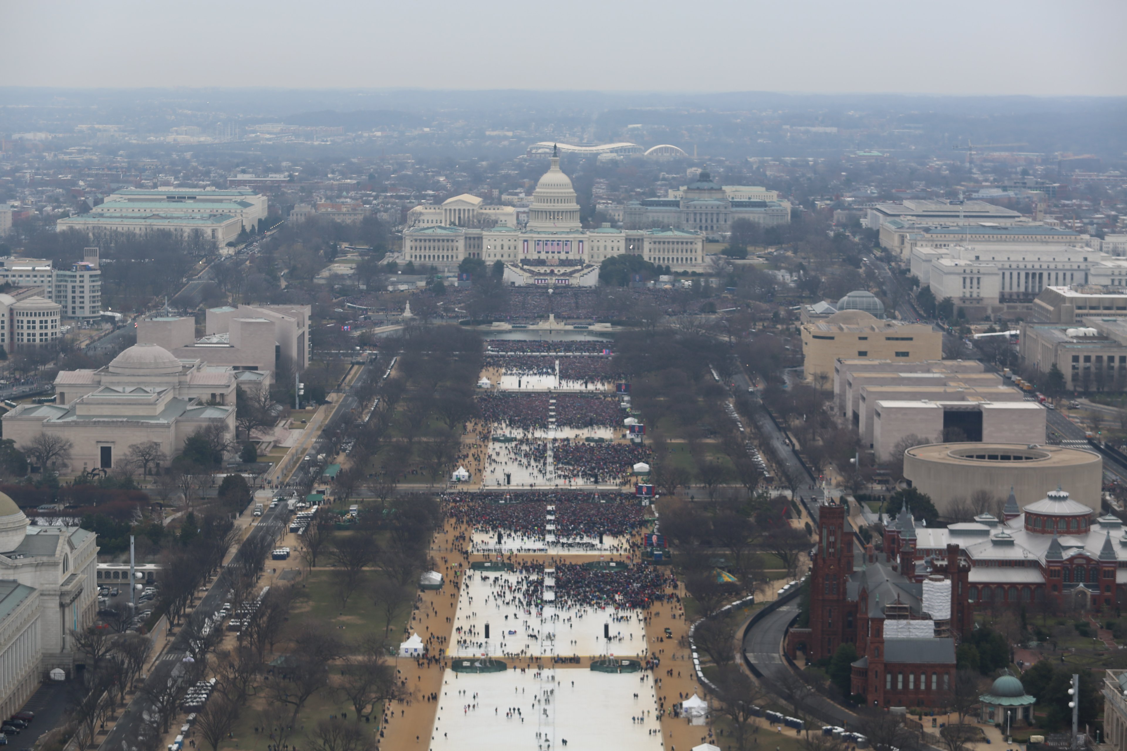 New inauguration crowd photos released (2017) - CNN Video