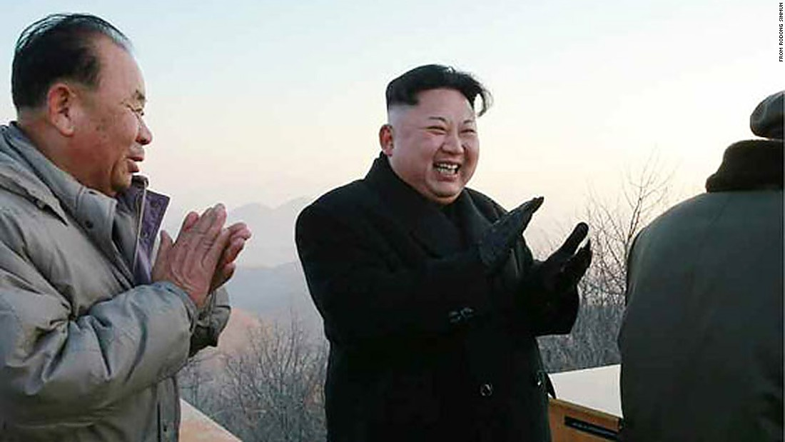 North Korean leader Kim Jong Un, pictured here on March 6, was said to be pleased with the launch, according to state media.