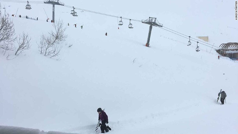 Avalanche hits French Alps town of Tignes