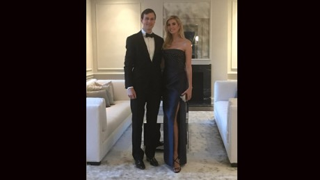 Ivanka Trump shares a photo of her and husband, Jared Kushner, after attending the Governor's Dinner in Washington on February 26, 2017.